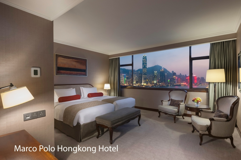 Marco Polo Hongkong Hotel_Harbour View Room_Twin_Night